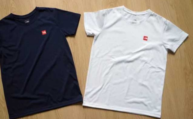 94f23d3a2 White t shirt for men. Northface small logo.