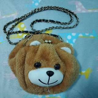 Teddy bear sling bag