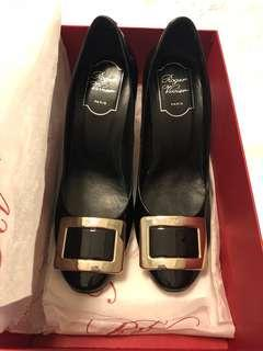 Roger Vivier Black Patent Heels