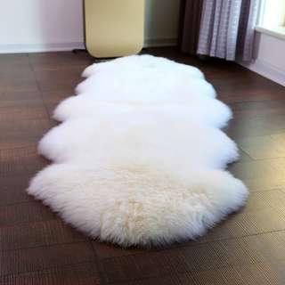 New Soft Faux Sheepskin Rug Mat Carpet