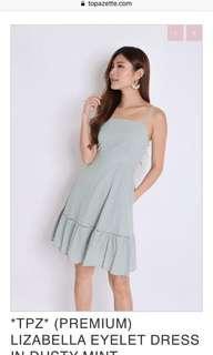 🌸 Topazette Lizabella eyelet dress in dusty mint