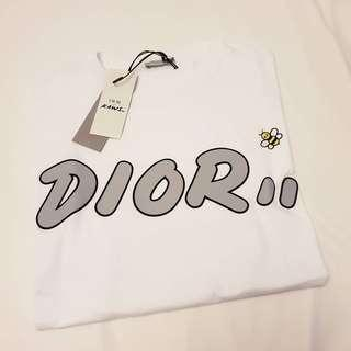 BN Dior Homme White T Shirt Embroidery Bee. Size M, L