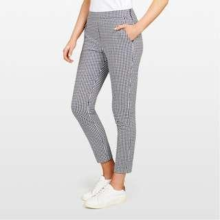 FRENCH CONNECTION Gingham Capri Pant