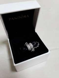 Pandora Silver safety chain with clear cubic zirconia 791736