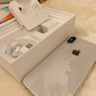 蘋果 iPhone X 256g 銀色 盒子裡的配件全部都新的 特價