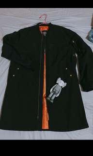 (交流外套)TAKI 長板風衣 ma-1