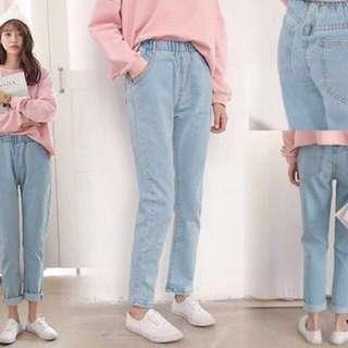 Boyfriend jeans biru muda all size #onlinesale