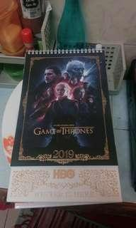 HBO Game of Thrones Calendar 2019