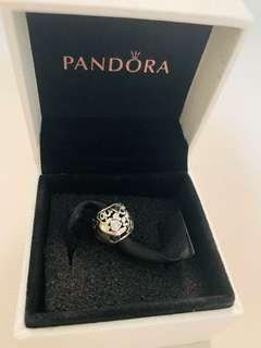 Authentic Pandora All around the world openwork silver charm with cubic zirconia