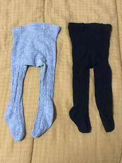 Legging baby set isi 2 hitam abu