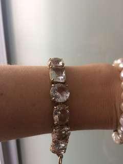 Crystal and Gold Statement Bracelet
