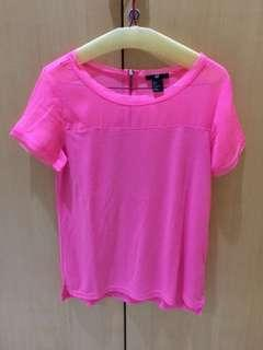 H&M pink blouse top S