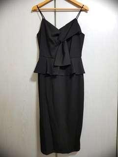 🚚 Love Bonito - Quellana Twist Front Peplum Dress (BRAND NEW NOT WORN)