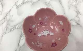全新 7-11 sanrio 花雨 花語 陶瓷碗 4號 玉桂狗