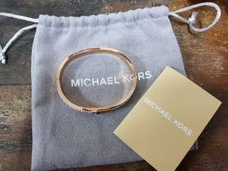 Micheal kors MK rosegold crystal shinning Bangle stainless steel branded bracelet