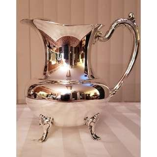 Silver plated water jug or pitcher