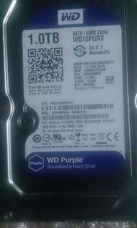 CCTV harddrive 1TB WD purple