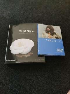 Chanel & vogue display books