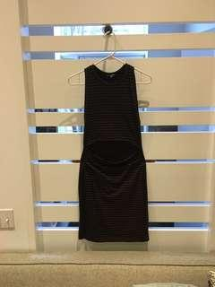 Aritzia striped dress with stomach cutout (size s/m)
