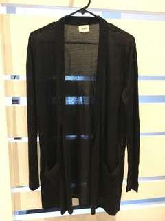 Beautiful black cardigan with belt - size s/m