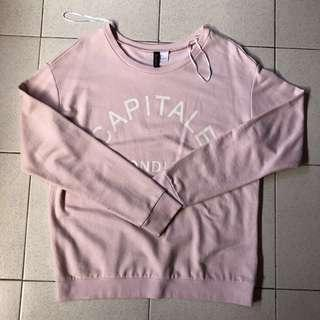 H&M Pink Pullover Large