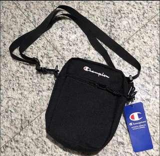 [Brand New W Tag] SS18 Champion Logo Sling Bag In Black