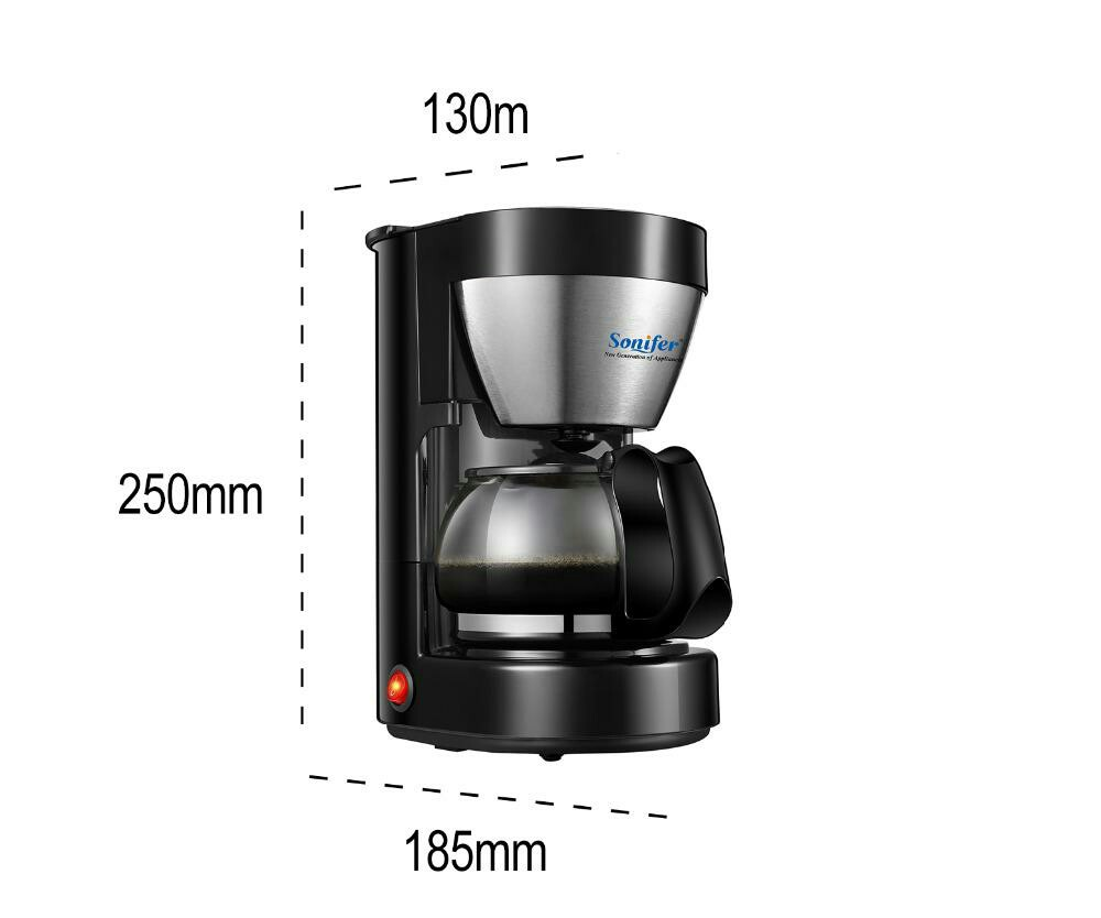 065l Electric Drip Coffee Maker Household Coffee Machine 6 Cup Tea