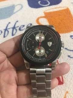 Scuderia Ferrari Steel Watch