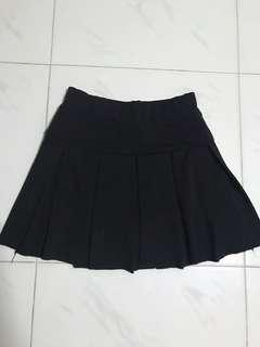 To Bless Black A-Line Skirt