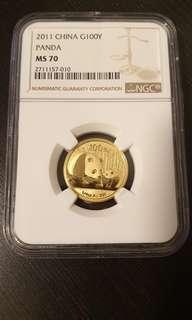 2011 China Panda Gold Coin