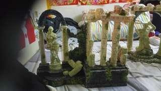 金魚缸雕刻 佛像擺設