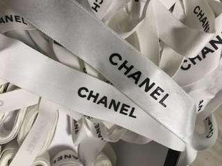 100% authentic Chanel ribbon material Matt thick or thin sizes various