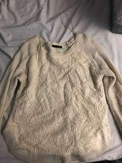 Women's knit and lace sweater