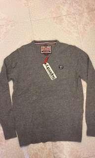 Superdry men's v neck knitwear 冷衫