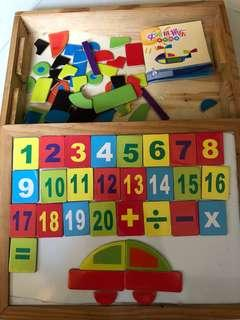 Magnetic numbers & shapes board