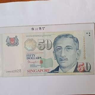 8H8T, portrait $50 T/S note 1pc.