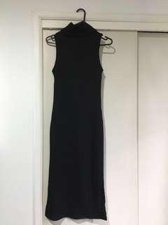 Black Turtleneck Bodycon Maxi Dress