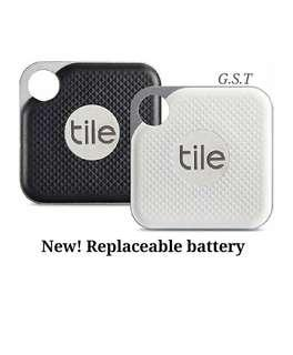 Tile Pro Replaceable Battery New! Black White pack