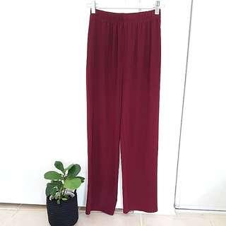 Highwaisted Maroon Culottes