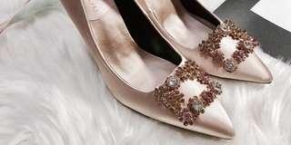 🚚 【鞋】緞面香檳色高跟鞋👠40 號