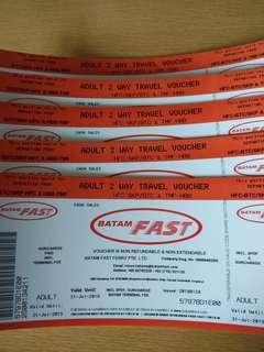 BATAM FAST FERRY $38 ALL PASSPORT PHYSICAL OPEN TICKETS