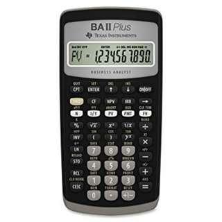 [Free Spare Battery] BA II Plus Financial Calculator