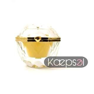 🚚 Crystal Ring Box with Gold Lining - Christal Box