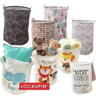 Locaupin Cotton Linen Laundry Storage Basket (40 X 50)CM