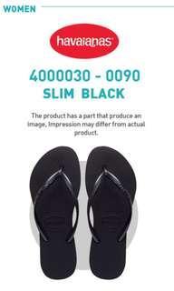 New stock!! BNIB Havaianas Slim for women in black or rose gold
