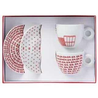 BN Illy Robert Wilson - WATERMILL Cappuccino Cups & Saucer 2's
