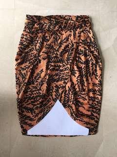 PL xs Zara woman satin skirt