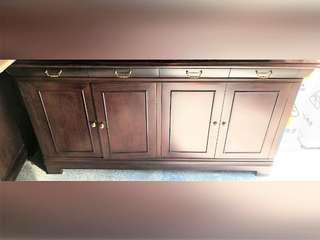 實木地櫃餐邊櫃