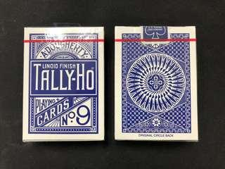 [Ohio.] Tally-Ho: Blue Circle Back Playing Cards Blue Seal