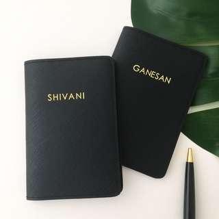 Modern minimalist style personalised passport cover custom passport holder personalised gift travel Organizer gift couple gift set Valentine day gift honeymoon gift